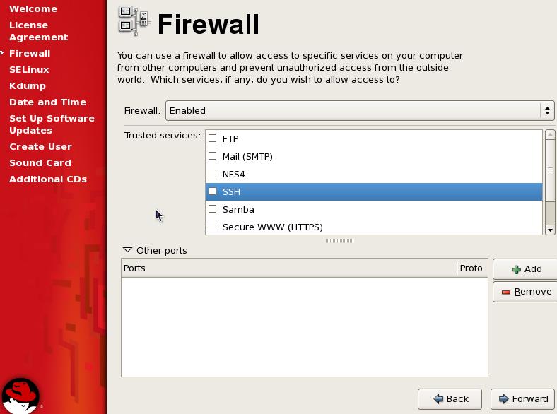 vCloud Director RHEL Firewall Settings - RHEL5 and RHEL6
